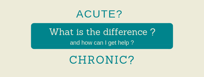 Acute or Chronic? What does this mean?
